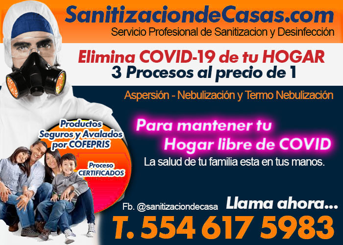 Sanitización De Casas En Casas En Colonia 5 De Mayo