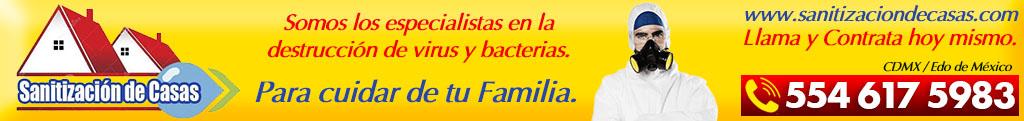 Desinfección de casas en Ciudad Satelite - Naucalpan - Tlalnepantla - Atizapan - Azcapotzalco - Claveria - Popotla - Polanco