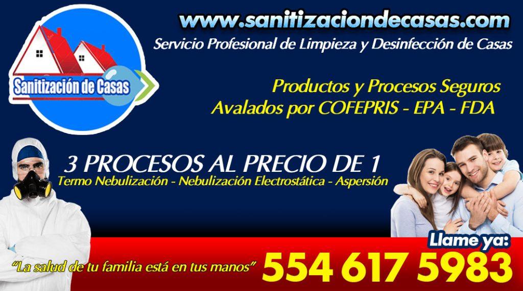 Sanitización de casas en ciudad de méxico